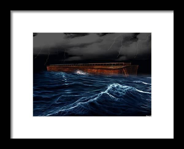 Ship Framed Print featuring the digital art Noah Ark by Evelyn Patrick