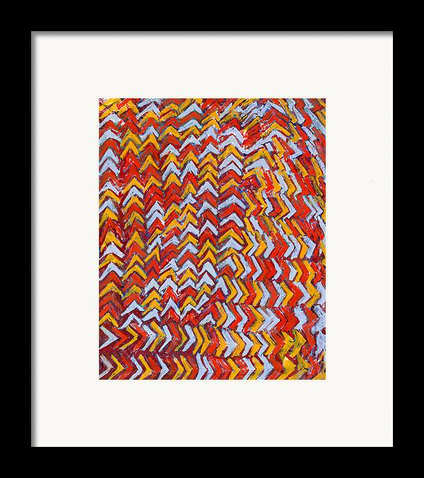 Abstract Framed Print featuring the painting Noahs Birthday by Joan De Bot