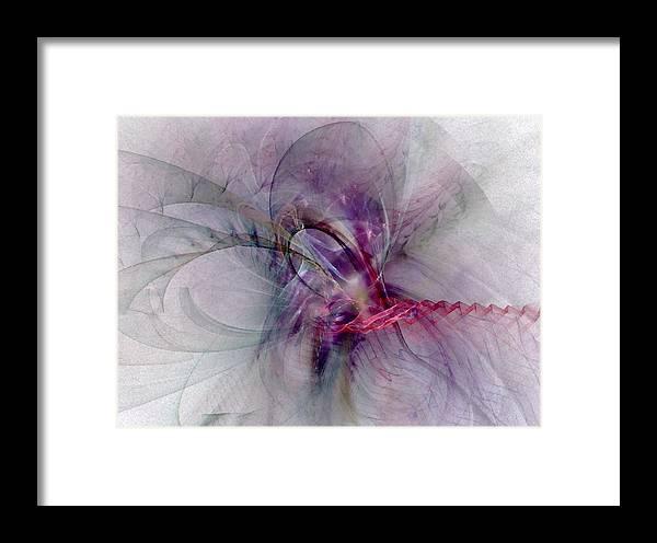 Spiritual Framed Print featuring the digital art Nobility Of Spirit - Fractal Art by NirvanaBlues