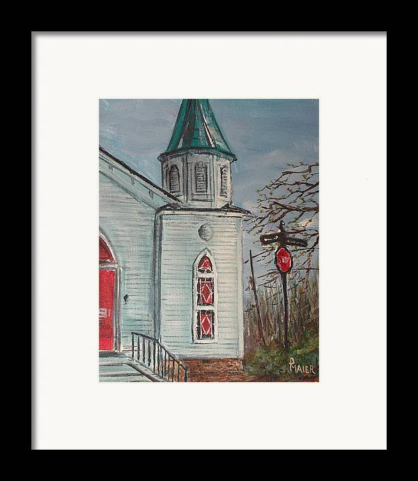 Church Framed Print featuring the painting Nocross by Pete Maier