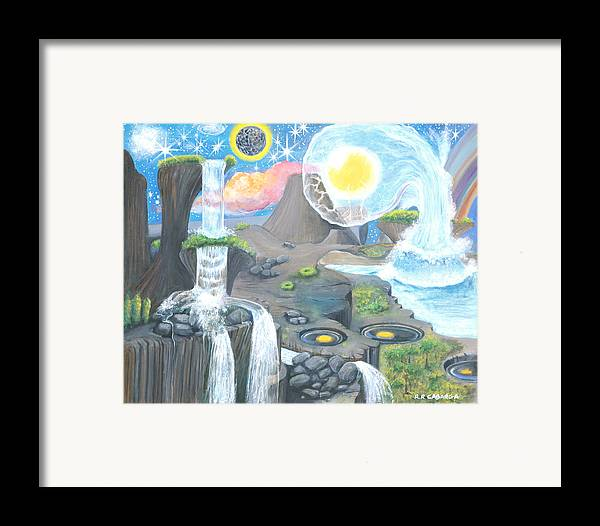 Landscape Framed Print featuring the painting Nocturnal Biohydroloft by Rr Cabarga