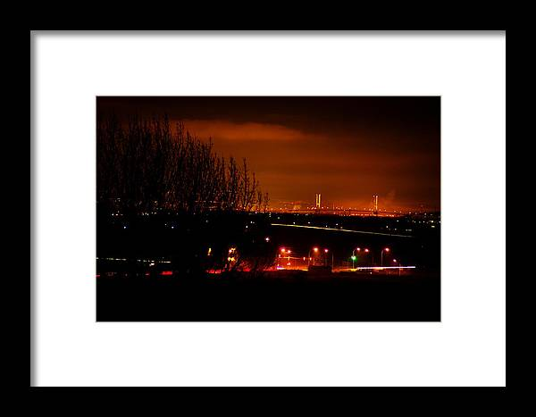 Night Framed Print featuring the photograph Nocturnal Highway by Paul Kloschinsky