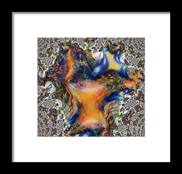 Multicolored Framed Print featuring the painting Nocturnal Nature by Vicki Lynn Sodora