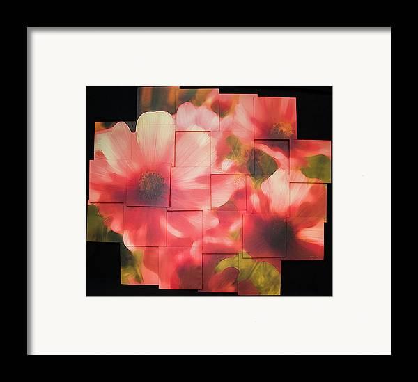 Flower Framed Print featuring the sculpture Nocturnal Pinks Photo Sculpture by Michael Bessler