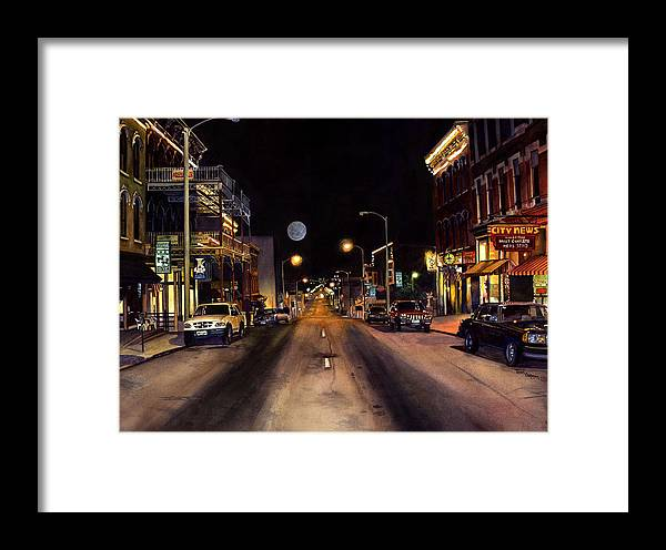 Nocturne Watercolor Framed Print featuring the painting Nocturne by Terri Meyer