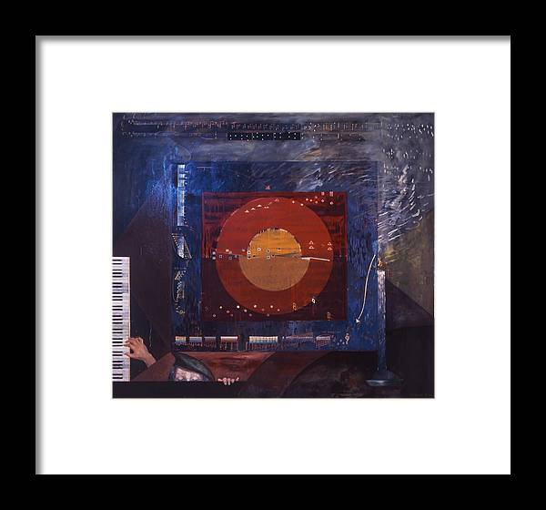 Music Framed Print featuring the painting Nocturne by Wilfried Senoner