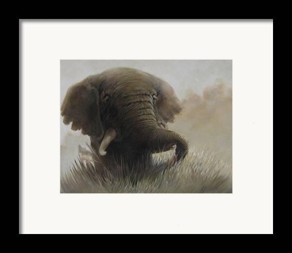 Elephant Framed Print featuring the painting Nogoro Ngoro Elephant by Patrick McClintock