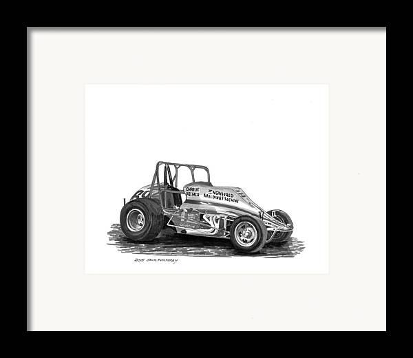 Sprint Car Jack : Non wing sprint race car framed print by jack pumphrey