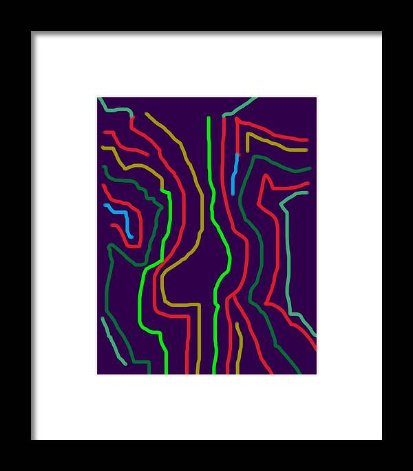 Abstract Framed Print featuring the digital art Noodle Nude by Karen L Christophersen