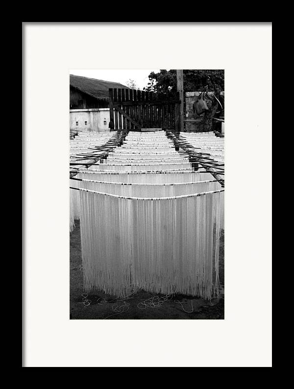 Burma Framed Print featuring the photograph Noodles by Marcus Best
