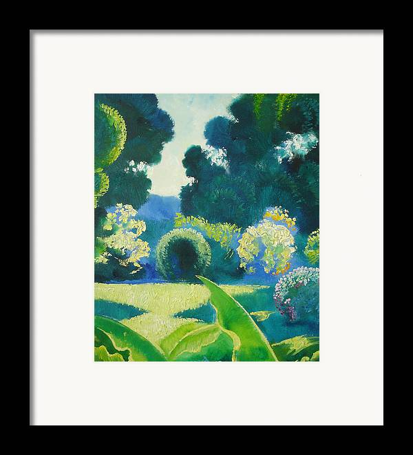 Landscape Framed Print featuring the painting Noon by Andrej Vystropov