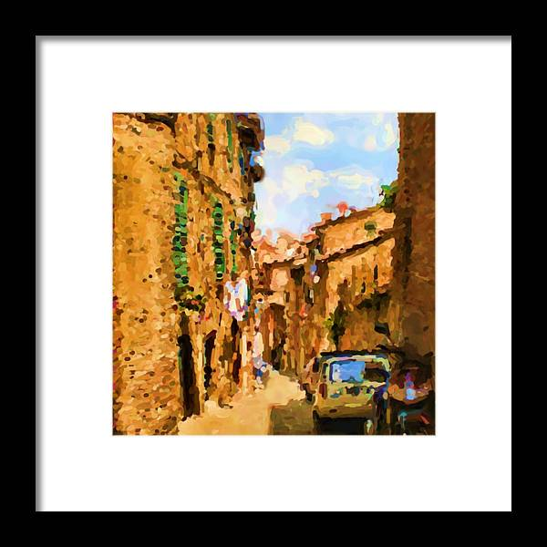 Sienna Framed Print featuring the photograph Noon in Sienna by Asbjorn Lonvig