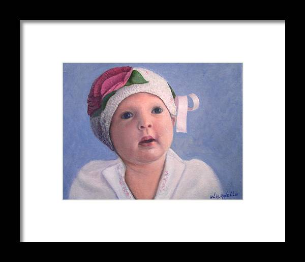 Portrait Framed Print featuring the painting Nora Rose by William H RaVell III