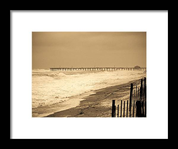 Ocean Framed Print featuring the photograph Nor'easter At Nags Head by Ches Black