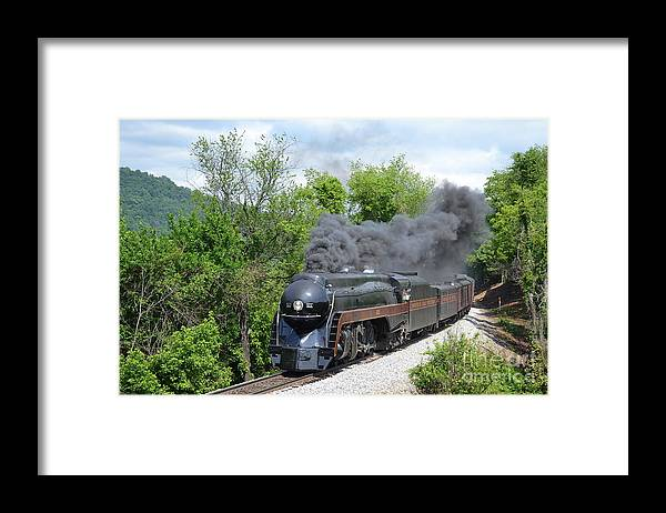 611 Framed Print featuring the photograph Norfolk and Western Class J #611 by Steve Gass