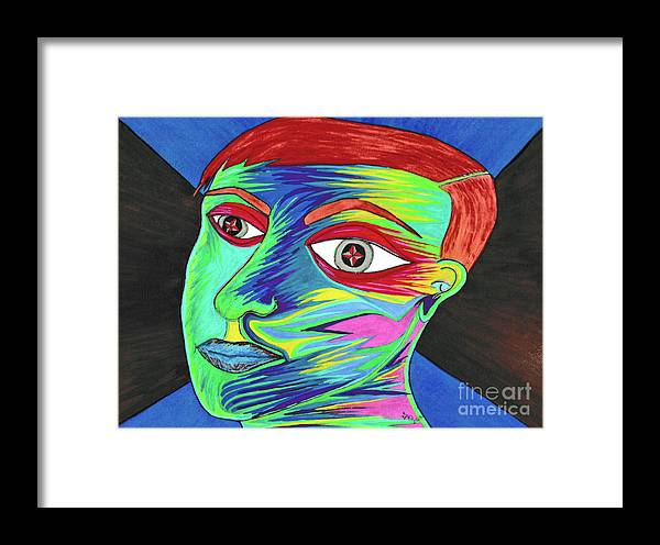 Framed Print featuring the painting Norman by ArtSick Productions