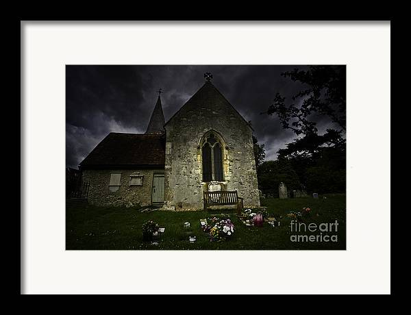 Church Framed Print featuring the photograph Norman Church At Lissing Hampshire England by Sheila Smart Fine Art Photography