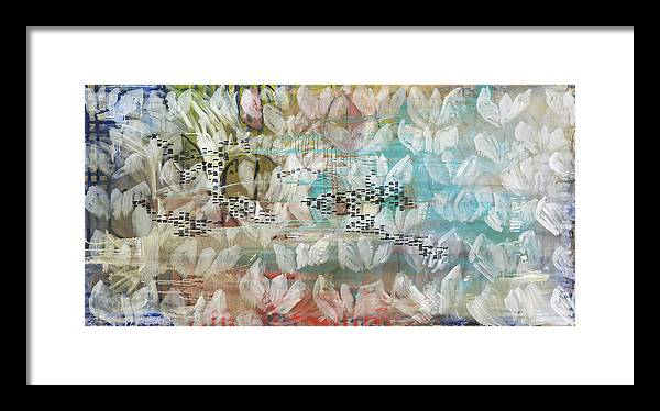 Abstract Framed Print featuring the painting Normandie by Joan De Bot