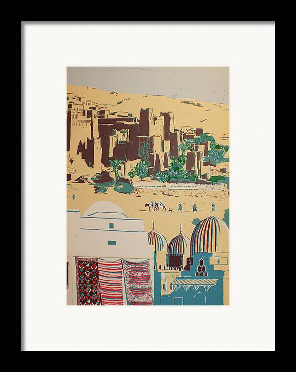 Framed Print featuring the print North African Landscape by Biagio Civale