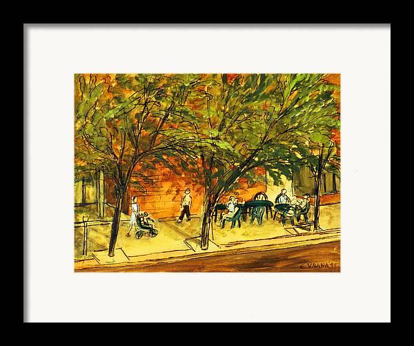 North Aurora Street Framed Print featuring the painting North Aurora Street Ithaca New York by Ethel Vrana