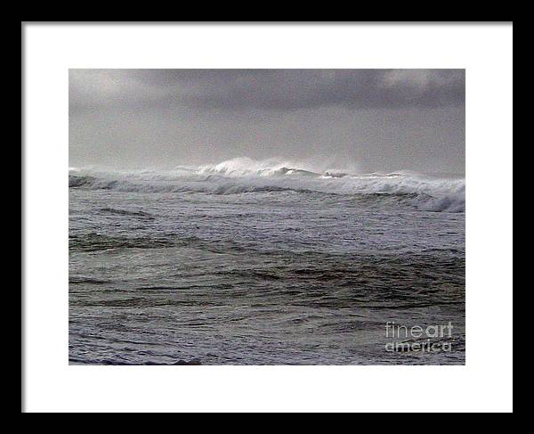 Seascape Framed Print featuring the photograph North Beach Winter Outside Break by Paul Miller