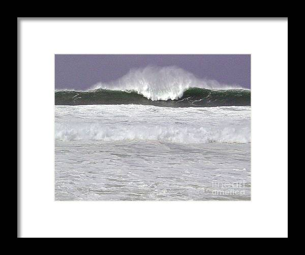 Seascape Framed Print featuring the photograph North Beach Winter by Paul Miller