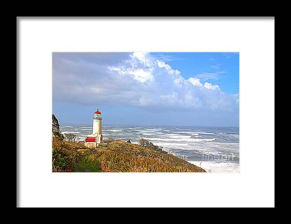 Lighthouse Framed Print featuring the photograph North Head Lighthouse by Larry Keahey
