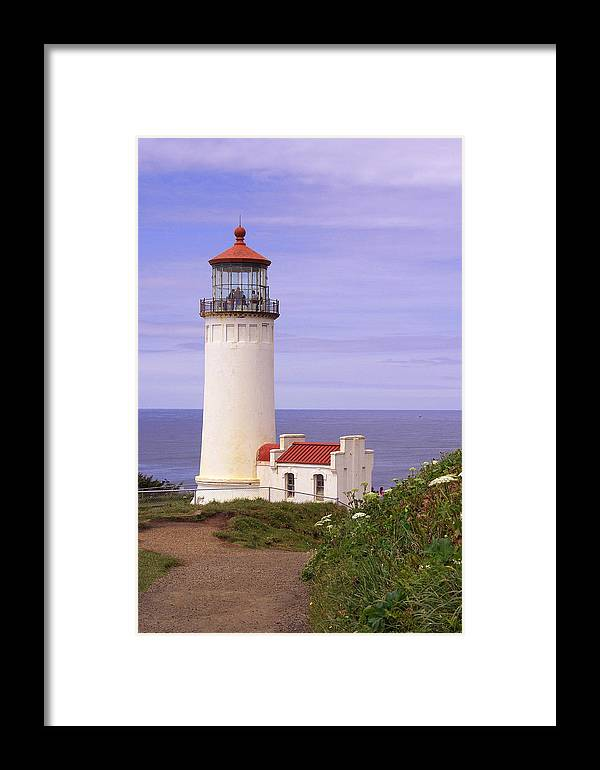 Lighthouse Framed Print featuring the photograph North Head Lighthouse Li 2000 by Mary Gaines