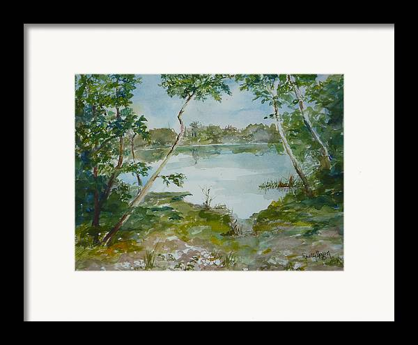 Lake Low Country Framed Print featuring the painting North Lake by Dorothy Herron