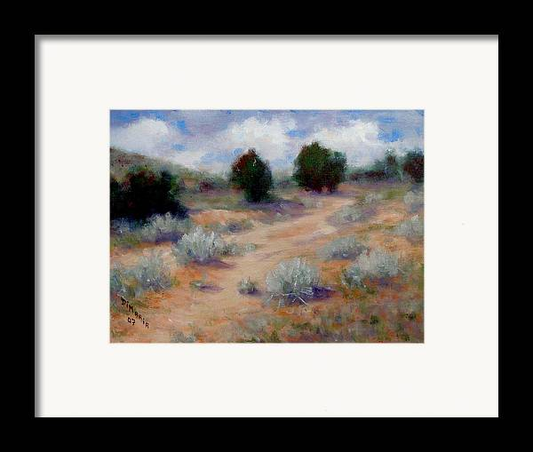 Realism Framed Print featuring the painting North Of Santa Fe by Donelli DiMaria