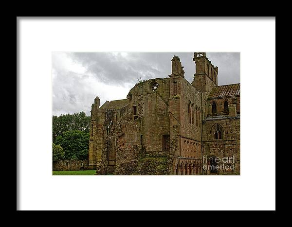 Melrose Framed Print featuring the photograph North Transept by John Kenealy