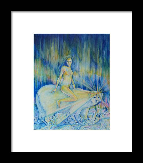 Northern Dream Framed Print featuring the drawing Northern Dream by Anna Duyunova
