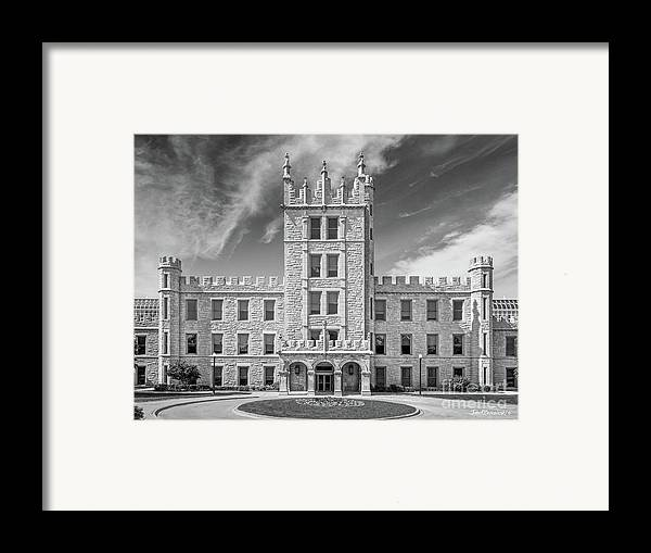 Altgeld Hall Framed Print featuring the photograph Northern Illinois University Altgeld Hall by University Icons