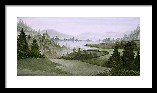 Golf Framed Print featuring the painting Northern Lake Golf by Sean Seal