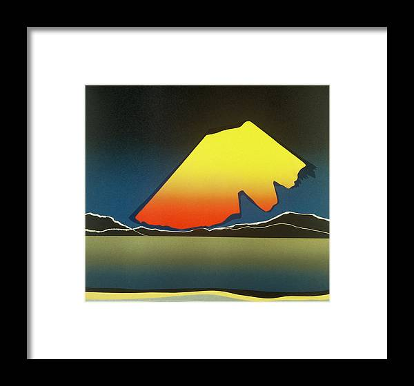 Landscape Framed Print featuring the mixed media Northern Light. by Jarle Rosseland