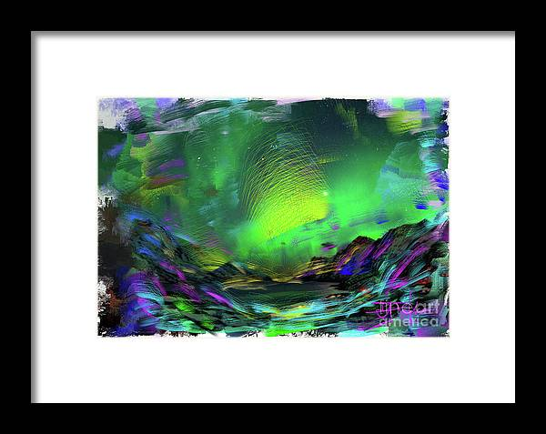 Northern Lights Framed Print featuring the painting Northern Lights 2 by Donald Pavlica