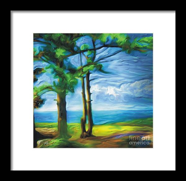 Landscape Framed Print featuring the painting Northern Ontario by Bob Salo