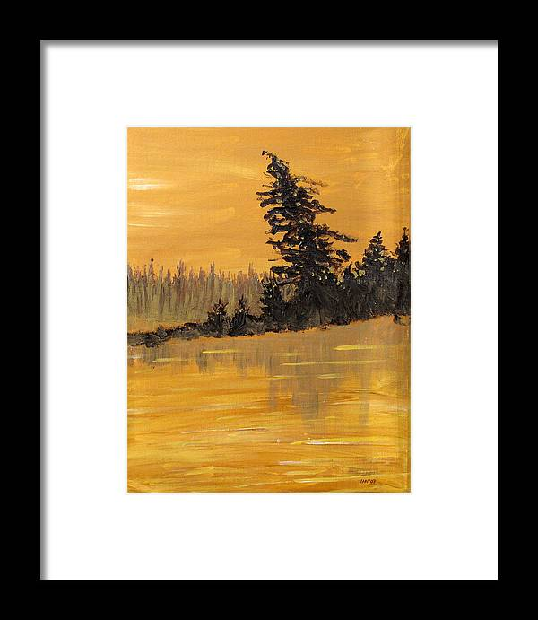 Northern Ontario Framed Print featuring the painting Northern Ontario Three by Ian MacDonald