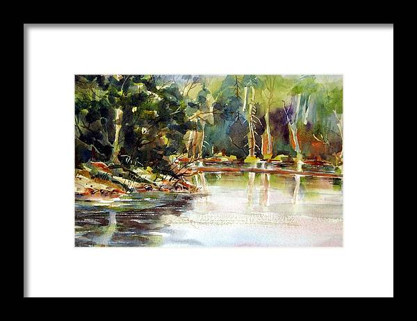Watercolor Framed Print featuring the painting Northern Relflections by Chito Gonzaga