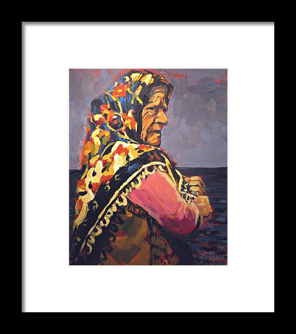 Paintings Framed Print featuring the painting Northern Woman by Brian Simons