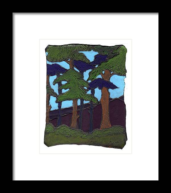 Tree Framed Print featuring the painting Northern Woods by Wayne Potrafka