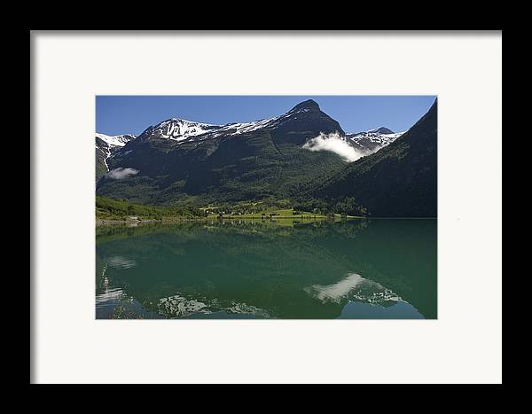 Nobody Framed Print featuring the photograph Norway, Briksdal Glacier At Jostedal by Keenpress