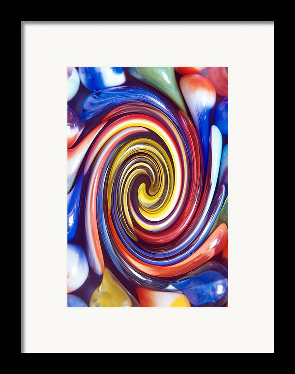 Marbles Framed Print featuring the photograph Nostalgic Marbles 4 by Steve Ohlsen