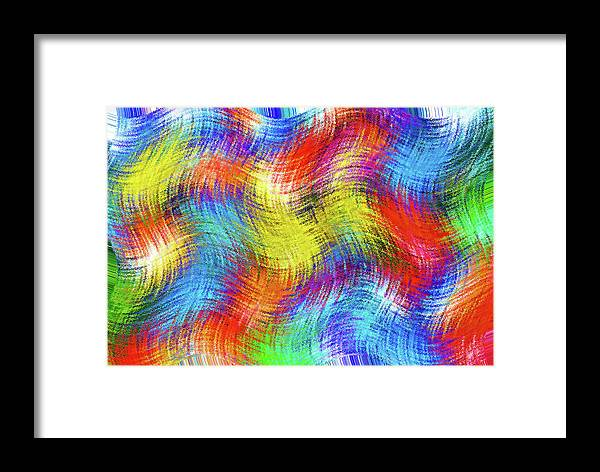 Abstract; Abstraction; Background; Patterns; Woven; Weave; Sewn; Fabric; Tapestry; Textiles Framed Print featuring the photograph Nostalgic Marbles 6 - Woven Waves by Steve Ohlsen