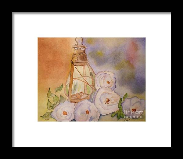 Flower Framed Print featuring the painting Nostalgie by Djl Leclerc