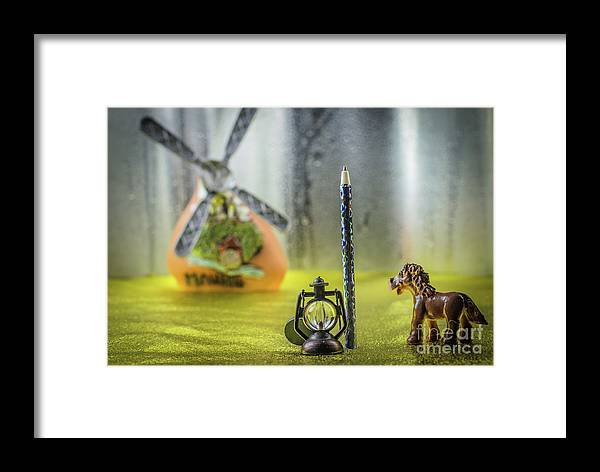 Photosmile Framed Print featuring the photograph Not For Your Quirks Friend Stands Nearby by Lyudmila Prokopenko