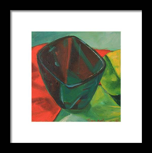 Green Framed Print featuring the painting Not My Mamas Cup by Tina Marie Rothwell