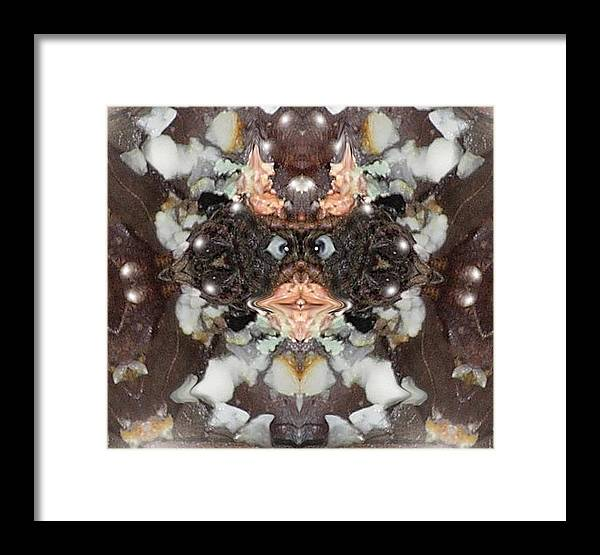 Fantasy Framed Print featuring the digital art Not Really Scareyman by Stephanie H Johnson