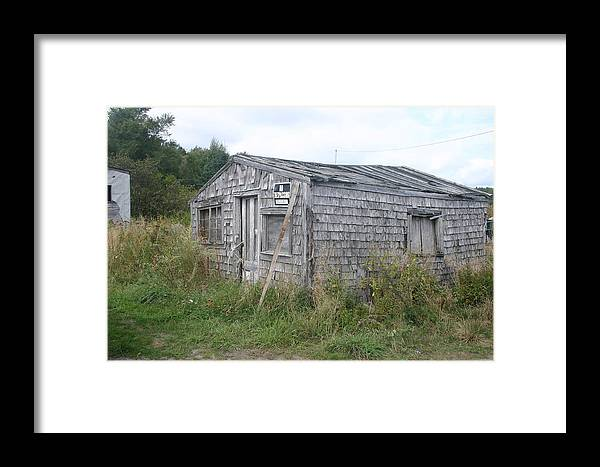 Fishing Lodge Framed Print featuring the photograph Not Safe To Sleep There by Dennis Curry