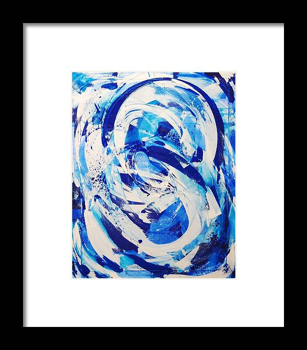 Abstract Framed Print featuring the painting Not What It Started As by Lauren Luna